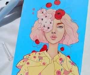 art, artsy, and girl drawing image