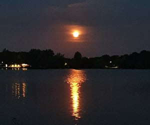 moon, netherlands, and night sky image