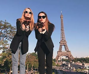 best friends, girls, and paris image