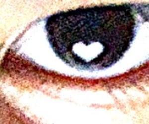 eye, heart eye, and eye aesthetic image