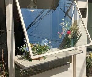 aesthetic, flowers, and window image