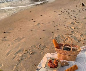 beach, photography, and picnic image