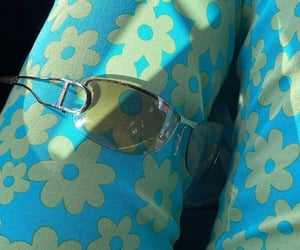 floral print, accessories, and dior sunglasses image