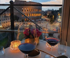 dinner, italy, and rome image