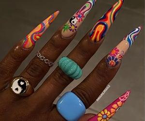 acrylic, nail, and nail polish image
