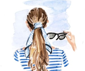 blue and white and stripes image