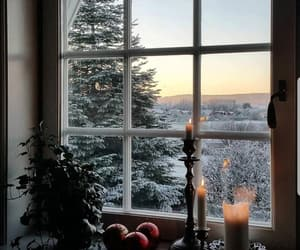 candles, snow and vintage