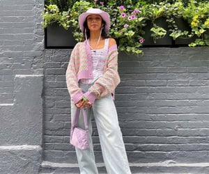knitwear, everyday look, and knit cardigan image