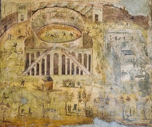 fresco, Naples, and mount vesuvius image