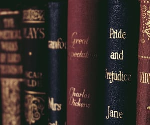 books, brainstorming, and charles dickens image