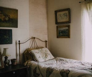 vintage, bed, and photography image
