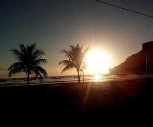 liberdade, por do sol, and praia image