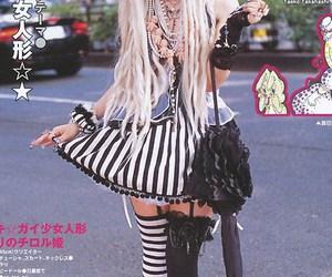bow, stripes, and japanese street fashion image