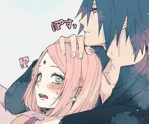 naruto, sakura, and sakura uchiha image