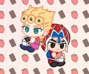 anime, chocolate milk, and strawberries image