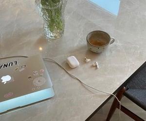 computer, interior, and interior decor image