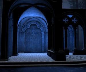 blue and hogwarts image