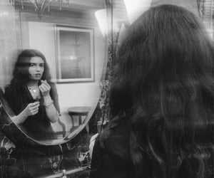 aesthetic, mirror, and b&w image