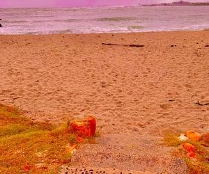 beach, rain, and cape town image