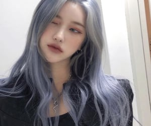 blue hair, blue hair girl, and girl image