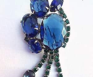 etsy, blue rhinestones, and juliana style image