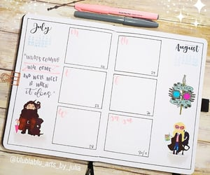 lettering, agenda, and harry potter image