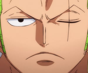 anime, zoro, and handsome image