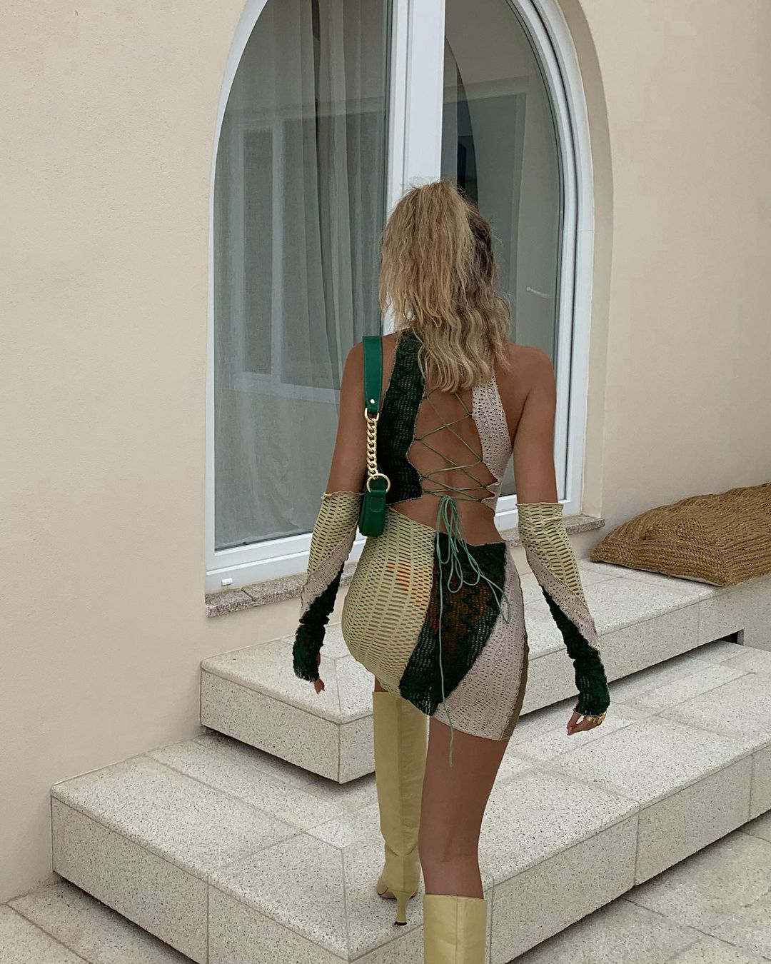 backless, outfit, and street style image