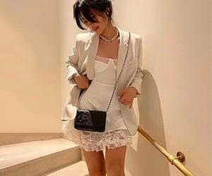 summer, white dress, and white blazer image