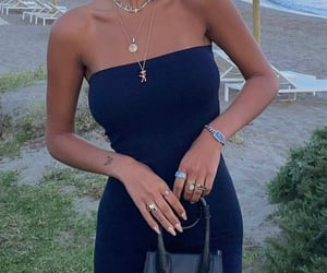 summer, everyday look, and navy blue dress image