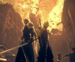 cloud, final fantasy 7, and final fantasy VII image