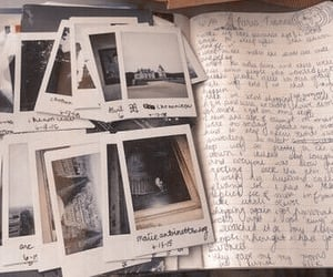 polaroid, photo, and journal image