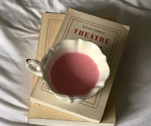 books, drink, and pink image