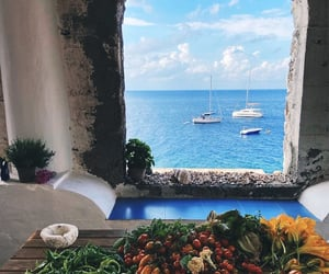 summer, mediterranean, and view image