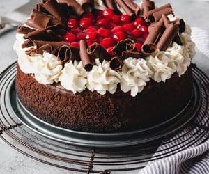 cake, cake decoration, and chocolate image