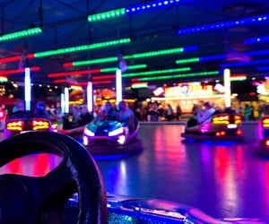 background, blue, and bumper cars image