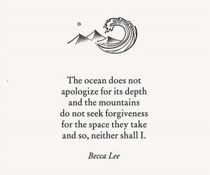 quotes, words, and ocean image