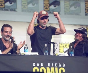 jeffrey dean morgan, norman reedus, and andrew lincoln image