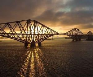 bridge, sonnenuntergang, and water image
