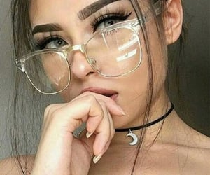 beauty, girls, and glasses image