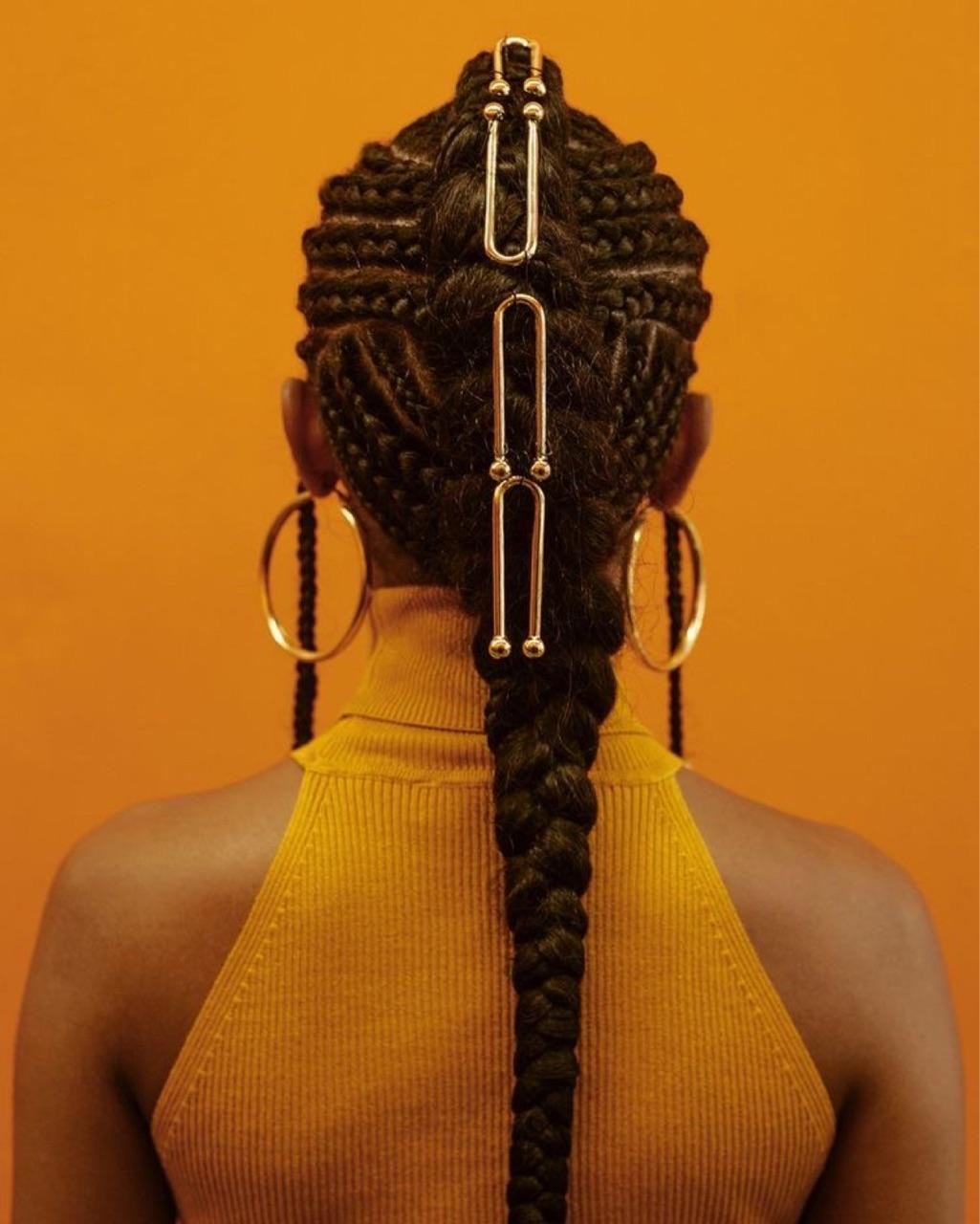 aesthetics, braids, and gold image