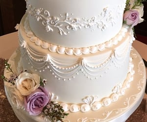 cakes, elegant, and floral image