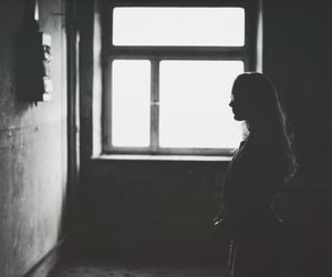 aesthetic, black and white, and creepy image