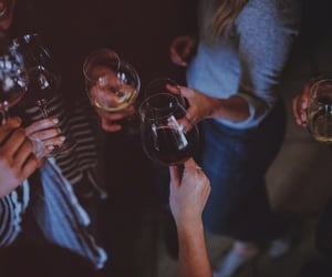 drinking, red wine, and toast image