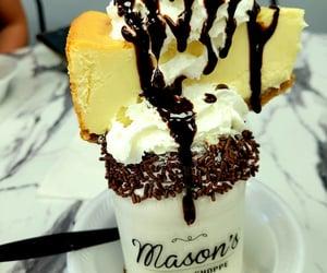 cheese cake, ice cream, and milkshake image