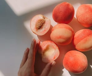 FRUiTS, peach, and summer image