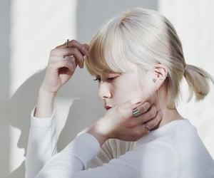 girl, hair, and platinum blonde hair image
