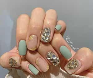 beige, green, and nail polish image