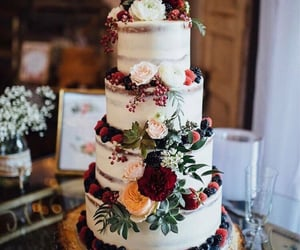 aesthetic, cake, and wedding image