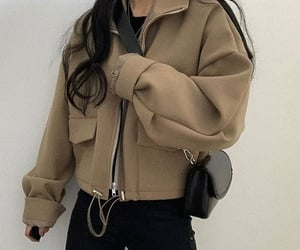 fashion, casual look, and jacket image